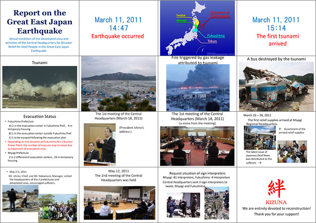 Report on the Great East Japan Earthquake